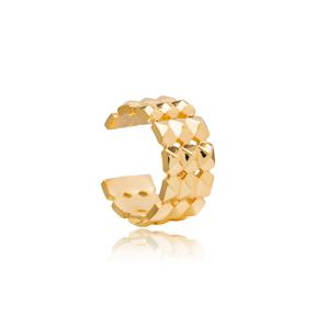 Trendy Design Cartilage Minimalist Earring Turkish 925 Sterling Silver Jewelry