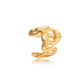 Snake Design Cartilage Earring Wholesale Turkish 925 Sterling Silver Jewelry