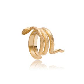 Trendy Snake Shape Cartilage Earring Wholesale Turkish 925 Sterling Silver Jewelry