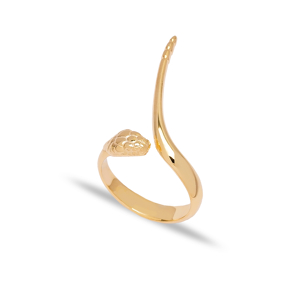 New Snake Design Adjustable Ring Turkish Wholesale 925 Sterling Silver Jewelry