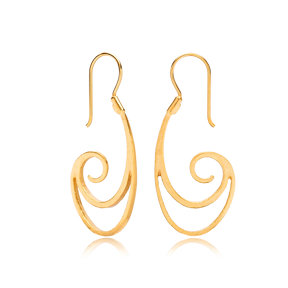 22K Gold Design Vintage Earrings Handcrafted Wholesale 925 Sterling Silver Jewelry