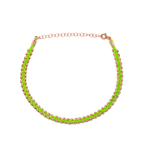 Green Knitting Design Turkish Wholesale Handcrafted Silver Anklet