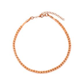 Pale Orange Knitting Anklet Wholesale Handmade 925 Sterling Silver Jewellery