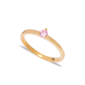 Dainty Pink Zircon Stone Cluster Ring Wholesale 925 Sterling Silver Jewelry