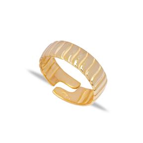 Minimalist Design Adjustable Ring Turkish Wholesale 925 Sterling Silver Jewelry