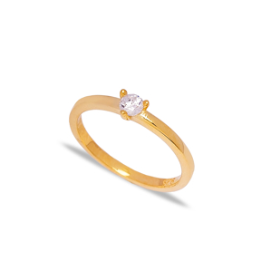 Dainty Zircon Stone Cluster Ring Wholesale 925 Sterling Silver Jewelry