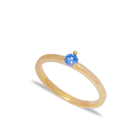 Dainty Aquamarine Zircon Stone Cluster Ring Wholesale 925 Sterling Silver Jewelry