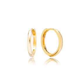 Minimalist Design 18 mm Hoop Earrings 925 Sterling Silver Jewelry