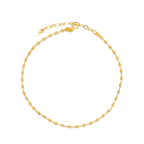 Minimalist Design Ball Chain Shaker Anklet Wholesale Handmade 925 Sterling Silver Jewellery