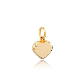 Plain Heart Shape Dangle Charm Wholesale Handmade Turkish 925 Sterling Silver For Women Jewelry