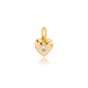 Heart Shape with Sun Charm 925 Sterling Silver Turkey Wholesale Jewelry