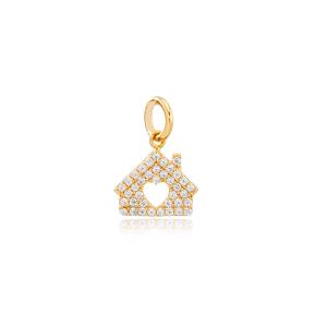 Sweet Home Dangle Charm Handmade Wholesale 925 Sterling Silver Jewelry