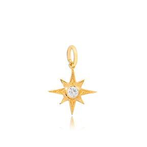 North Star Necklace Dangle Charm 925 Sterling Silver Wholesale Turkish Jewelry