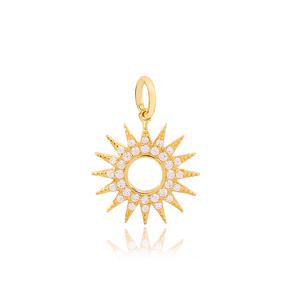 Sun Necklace Dangle Charm Handmade 925 Theia Silver Wholesale Turkish Jewelry