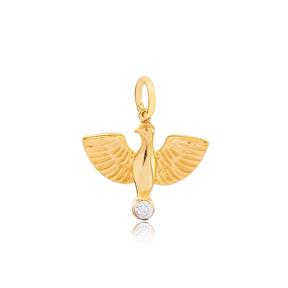 Bird Animal Shape Handmade 925 Sterling Silver Wholesale Turkish Charm Jewelry