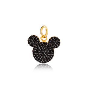 Cute Mouse Dangle Charm 925 Sterling Silver Handmade Wholesale Turkish  Jewelry