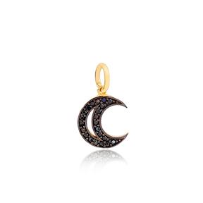 Black Moon Dangle Charm 925 Sterling Silver Handmade Wholesale Turkish  Jewelry