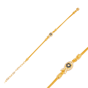 Stylish Fish Charm Chain Design Charm Bracelet Handmade Wholesale Turkish 925 Sterling Silver Jewelry