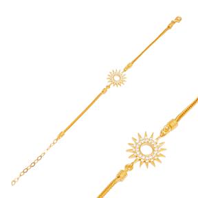 Sun Charm Bracelet Handmade Wholesale Turkish  925 Sterling Silver Jewelry