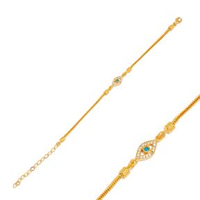 Best Selling Evil Eye Charm Bracelet 925 Sterling Silver  Handmade Wholesale Turkish  Jewelry