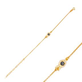 Fashion Fish Charm 925 Sterling Silver Handmade Wholesale Turkish Charm Bracelet  Jewelry