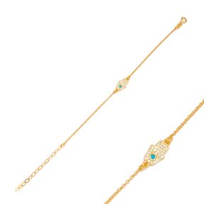 Hamsa Charm Bracelet Handmade Wholesale Turkish 925 Sterling Silver  Jewelry