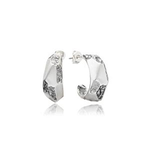 Minimalist Style Plain Stud Earrings Handcrafted Wholesale 925 Sterling Silver Jewelry