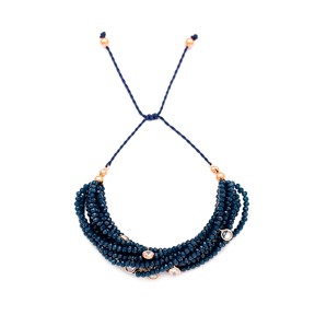 Turkish Wholesale Silver Beaded Crystal Stone Knitting Bracelet