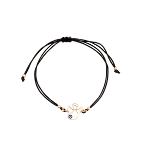 Angle Design Evil Eye Handmade Adjustable Turkish Wholesale Silver Knitting Bracelet