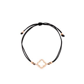 Clover Design Handmade Adjustable Turkish Wholesale Silver Knitting Bracelet