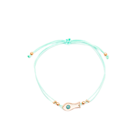 Enamel Fish Design Handmade Adjustable Turkish Wholesale Silver Knitting Bracelet