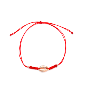 Seashell Design Adjustable Wholesale Knitting Silver Bracelet