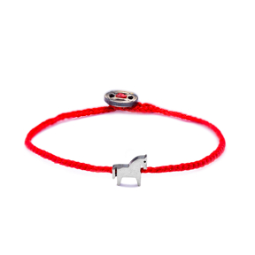 Adjustable Animal Red Knitting Bracelet Handmade Wholesale Silver jewelry