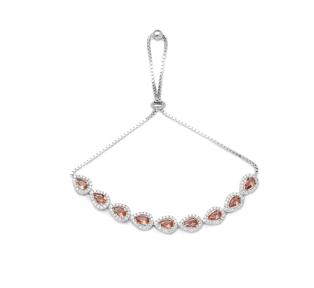 Drop Shape Elegant Adjustable Bracelet 925 Silver Sterling Wholesale Handcrafted Jewelry