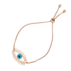 New Evil Eye Design Tennis Bracelet Adjustable Wholesale 925 Sterling Silver Jewelry
