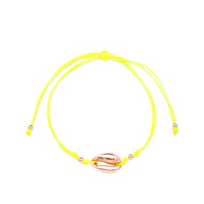 Yellow Color 15 x 10 mm Size Seashell Design Adjustable Knitting Bracelet Turkish Wholesale Handmade 925 Sterling Silver