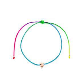 Rainbow Color Minimalist Clover Design Adjustable Knitting Bracelet Turkish Wholesale Handmade 925 Sterling Silver