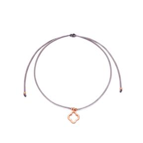 Grey Color Clover Design Adjustable Knitting Bracelet Turkish Wholesale Handmade 925 Sterling Silver