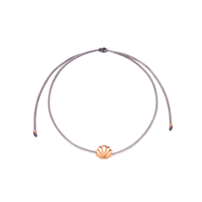 Grey Color Fine Seashell Design Adjustable Knitting Bracelet Turkish Wholesale Handmade 925 Sterling Silver