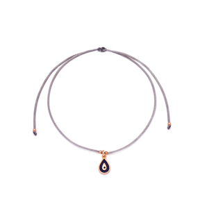 Grey Color Navy Blue Enamel Drop Design Adjustable Knitting Bracelet Turkish Wholesale Handmade 925 Sterling Silver