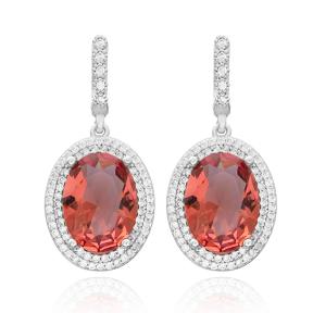 New Trendy Zultanite Stone Oval Earrings Turkish Wholesale 925 Sterling Silver Earring