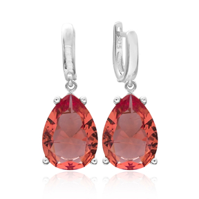Drop Shape Zultanite Stone Earrings Turkish Wholesale 925 Sterling Silver Jewelry
