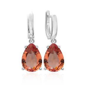 925 Sterling Silver Jewelry Zultanite Stone Drop Shape Earrings Turkish Wholesale