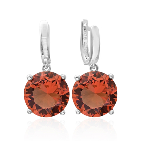 Zultanite Stone Round Shape Earrings Turkish Wholesale 925 Sterling Silver Jewelry