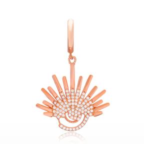 Fashion Dangle Design Earring Turkish Wholesale Handmade 925 Sterling Silver Jewelry