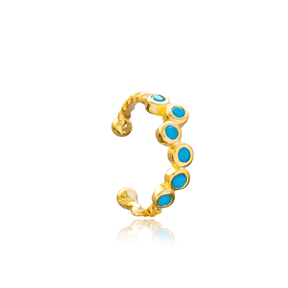 Turquoise Adjustable Cartilage Earring Wholesale Turkish 925 Silver Sterling Jewelry