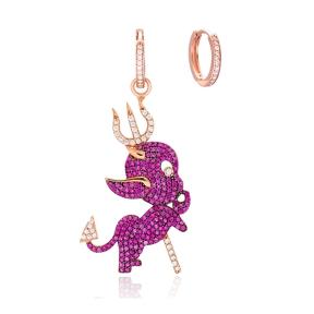 Ruby Devil Design Wholesale 925 Silver Charm Earring