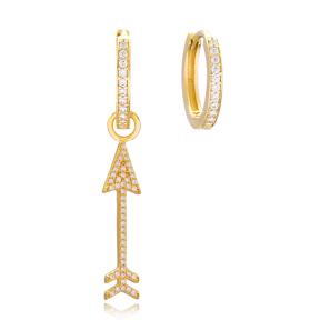 Arrow Design Earrings Handmade 925 Sterling Silver Jewelry