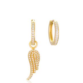 Wing Design Earrings Handmade 925 Sterling Silver Jewelry