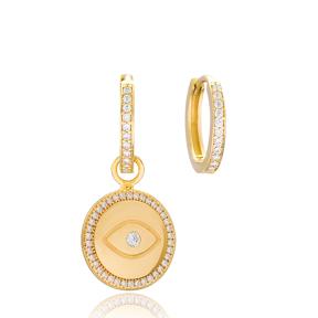 Eye Design Earrings Handmade 925 Sterling Silver Jewelry